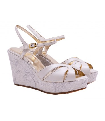 Lou bridal wedge sandals Stefani